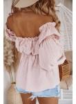 Bluzka hiszpanka ażurowa Bonita różowa