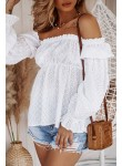 Bluzka hiszpanka ażurowa biała Bonita