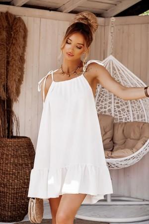 Sukienka na ramiączkach Tropic biała