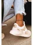 Buty sportowe adidasy Mexe beżowe
