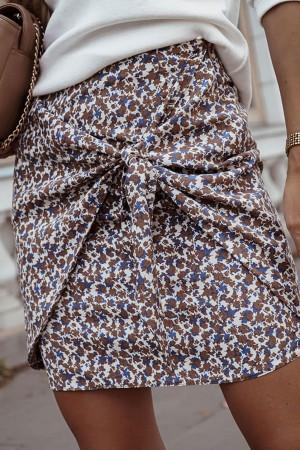 Spódnica w kwiaty Girly błękitna