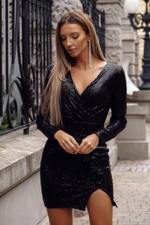 Sukienka cekinowa Shine czarna