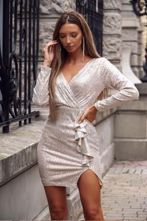 Sukienka cekinowa Shine srebrna