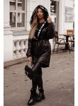 Kurtka o kroju płaszcza Loreto czarna