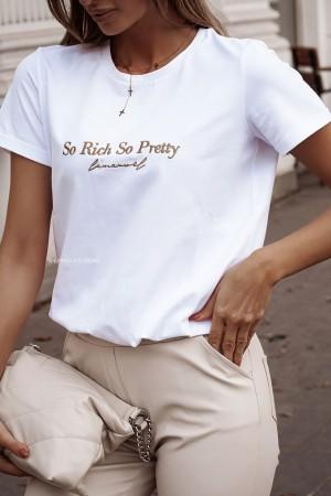 Bluzka t-shirt So Pretty La Manuel biały
