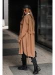 Płaszcz trencz Donna camel
