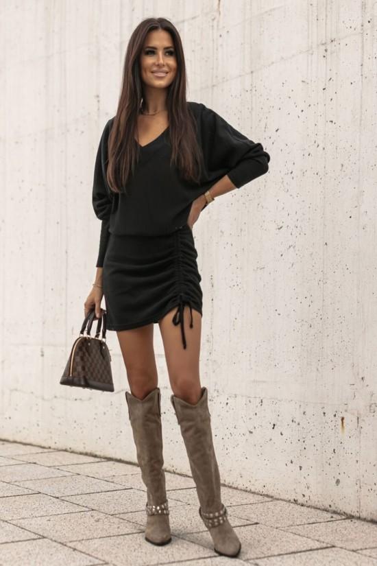 Sukienka sweterkowa Corida czarna
