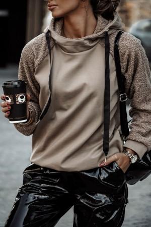 Bluza z kapturem Frappe beż mokka