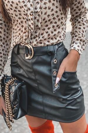 Spódnica Milley skajkowa czarna