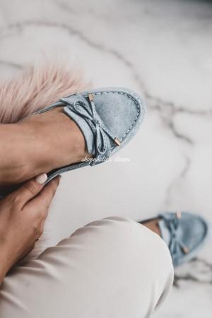 Mokasyny jeans niebieskie Spring