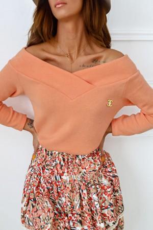 Bluzka sweterkowa Shine brzoskwiniowa