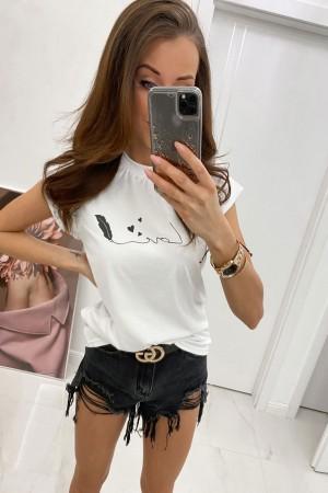 Bluzka t-shirt Love biały