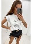 Bluzka t-shirt Coctail Club biały