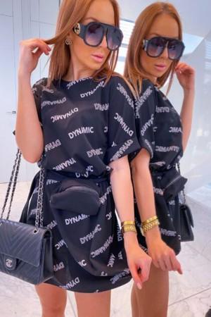 Sukienka czarna Dynamic