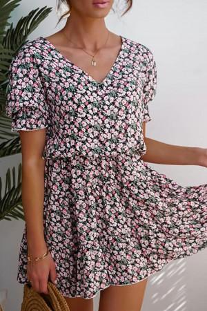Sukienka w drobny kwaitowy wzór Giorgia