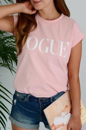 bluzka t-shirt Vogue różowy