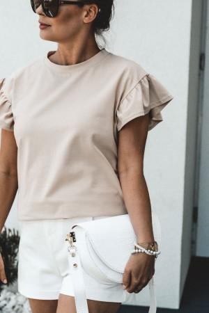 bluzka t-shirt beż Butterfly