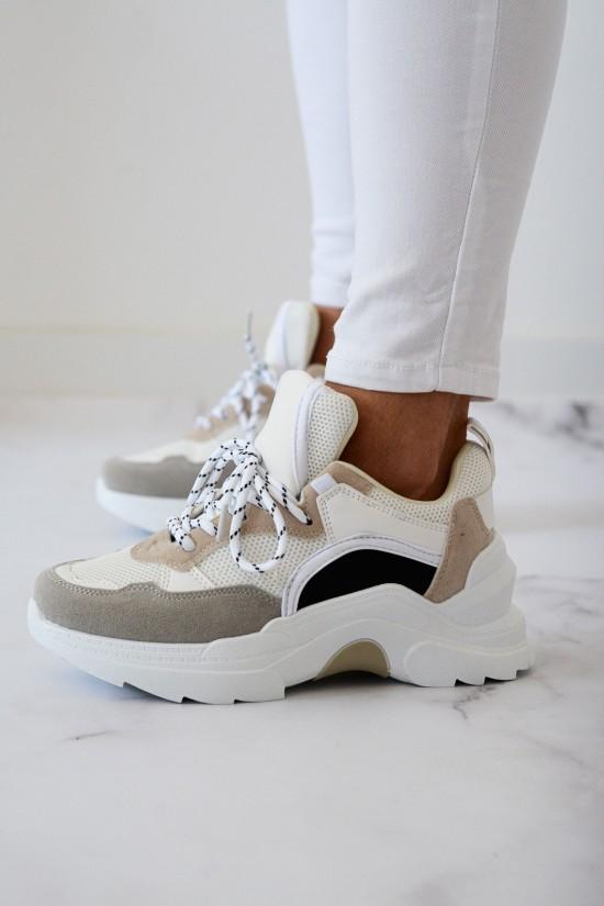 Adidasy Simply biało-beżowe