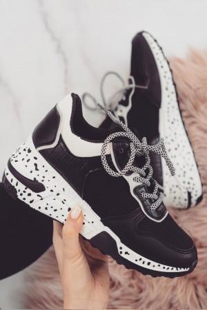 Buty sportowe sneakersy czarne Marley