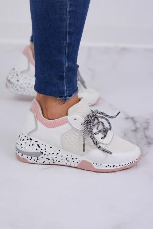 Buty sportowe sneakersy białe Marley