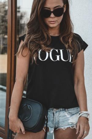 bluzka t-shirt Vogue czarny