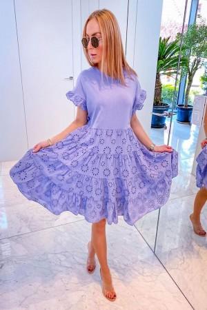 Sukienka ażurowa lila Carmi