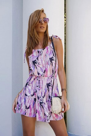 Sukienka na ramiączkach Quill lila