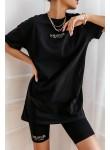Komplet t-shirt i kolarki La Manuel czarny