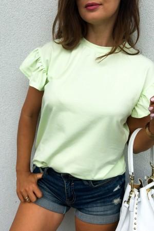 bluzka t-shirt limonka Butterfly