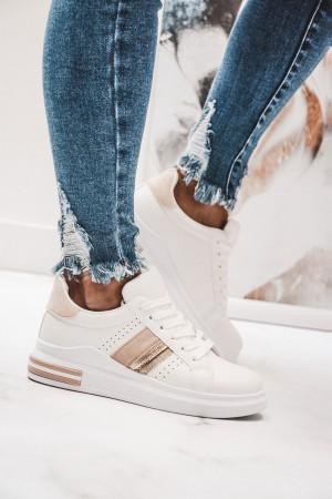 Adidasy trampki białe beżowe wstawki Fizzy