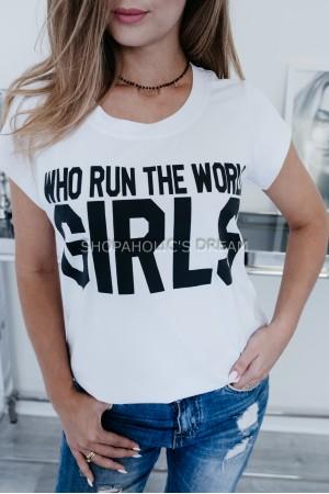 "TSHIRT  ""GIRLS"" WHITE"