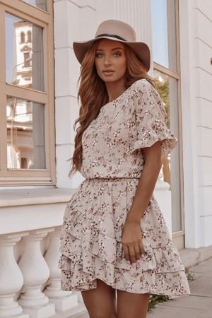 Sukienka Naomi beżowa