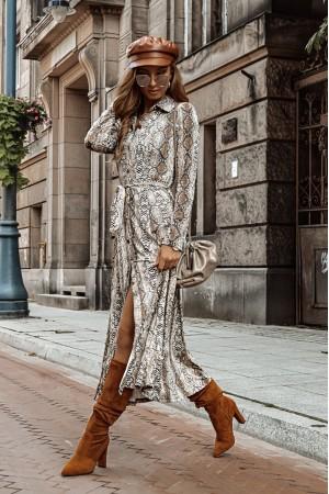 Sukienka Midnight wężowy wzór