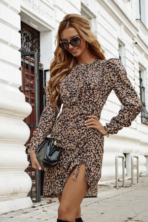 Sukienka w panterkę Leonia