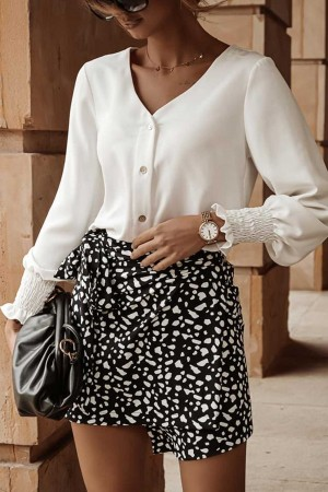 Koszula na guziki Perla biała