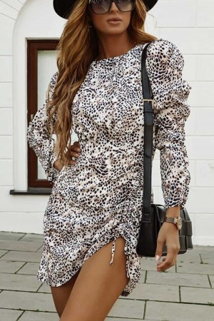 Sukienka beżowa Capri