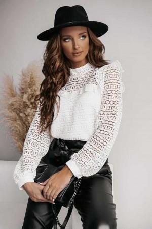 Bluzka koronkowa biała Paloma