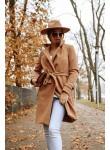 Płaszcz z wiązaniem City Chic light camel