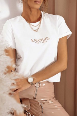 Bluzka t-shirt La Manuel biały