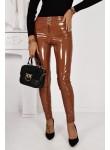 Leginsy lateksowe spodnie La Manuel camel