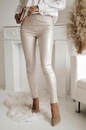 Spodnie woskowane beżowe Stay Classy