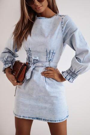 Sukienka jeansowa koszulowa Denim Iconic