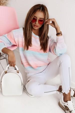 Sweter Rainbow pastel I