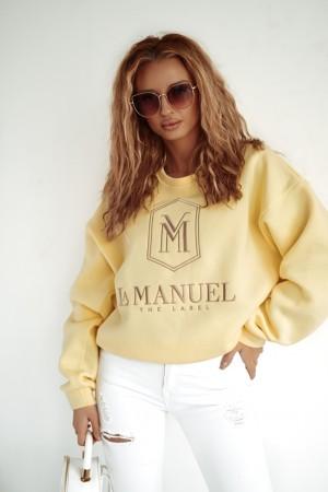 Bluza La Manuel Hoodey sunny żółta