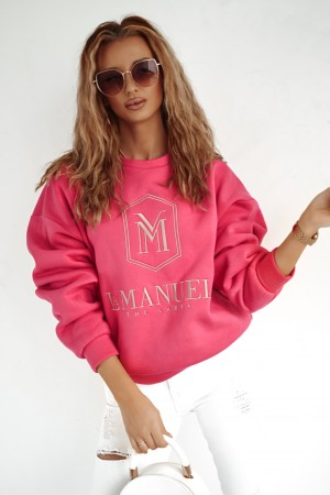 Bluza La Manuel Hoodey różowa fuksja