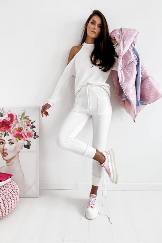 Komplet bluzka i spodnie Celia biały