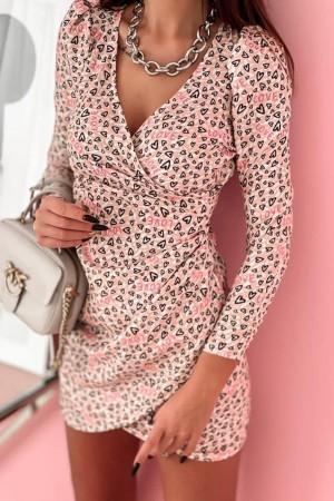 Sukienka Jane różowa w serca