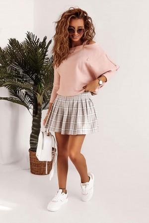 Sweterek ecru kopertowy Selena
