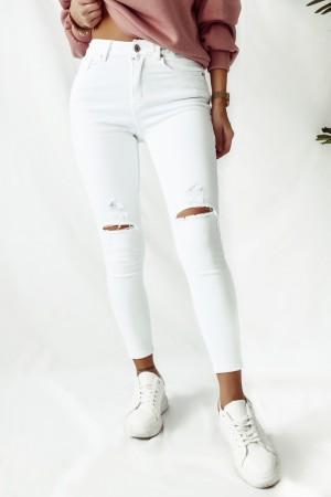 Spodnie jeansowe białe Demmi