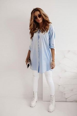Koszula Long błękitna